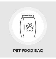 Pet food bag flat icon vector image
