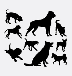 Dog pet animal silhouette 05 vector