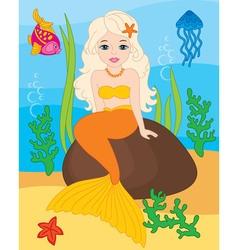 Beautiful Mermaid vector image vector image