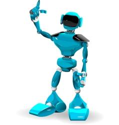 Blue Robot 2 vector image