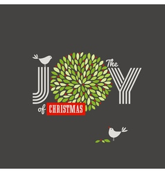 Christmas background with cute birds vector image vector image