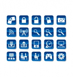 computer and electronic icons vector image vector image