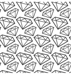 Diamonds monochrome seamless pattern web vector