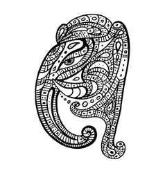 Elephant head Ganesha Hand drawn vector image vector image