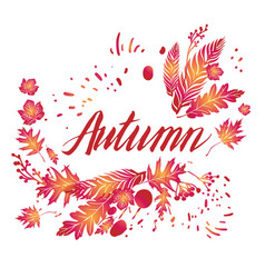 Fall art background vector