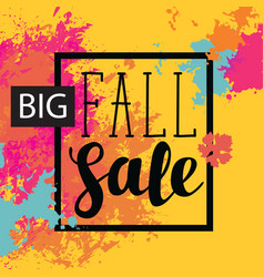Fall sale banner with bright abstract spots vector