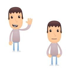 funny cartoon guy vector image