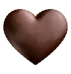 Heart polygon chocolate vector