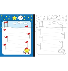 Little star worksheet vector image