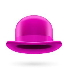 Magenta bowler hat vector