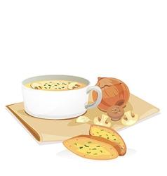 mashroom soup2 vector image vector image
