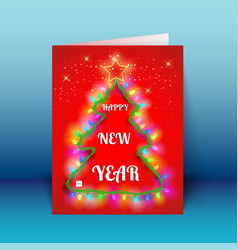 new year greeting 3d card vector image