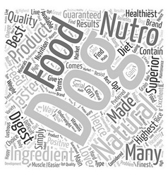 Nutro natural dog food word cloud concept vector