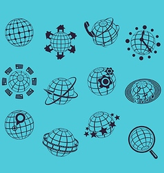 Planet flat icons vector image vector image