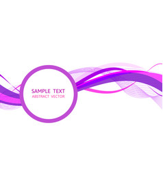 Purple wave abstract background graphic design vector
