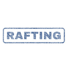 Rafting textile stamp vector