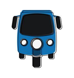 Rickshaw or tuk tuk icon image vector