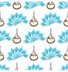 seamless pattern janmashtami festival vector image