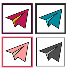 set of aircraft button icon telegram icon vector image