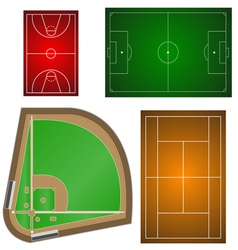 Set of playgrounds vector