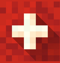 Switzerland flag with cross vector