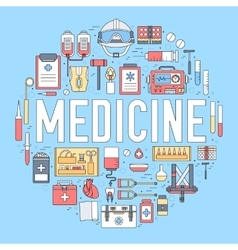 Thin line first medical aid modern vector