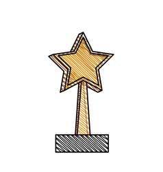 Trophy star win image vector
