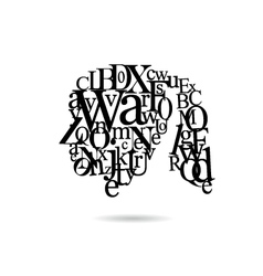 Typography woman silhouette vector image vector image