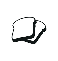 Bread simple black icon on white background vector