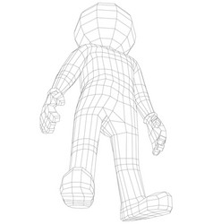 Puppet 3d man standing vector