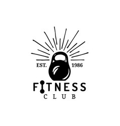 fitness logo hand sketched athletic weight vector image