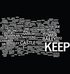 Berkhamsted castle text background word cloud vector
