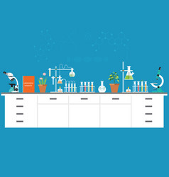 Chemical laboratory science and technology vector