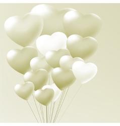 Elegant balloons heart valentines day eps 8 vector