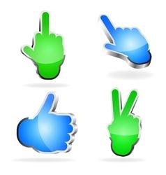 3d Hand Symbols vector image