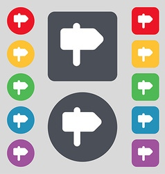 Information road icon sign a set of 12 colored vector