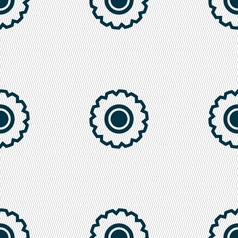 Cogwheel icon sign seamless pattern with geometric vector