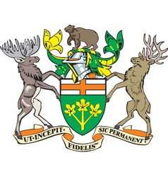 Ontario Province Coat-of-Arms vector image