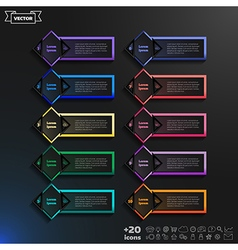Infographic design list with colorful rhombs vector