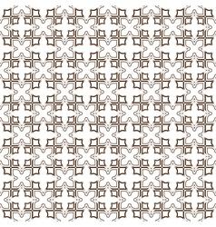 Monochrome seamless stylized flower pattern vector image