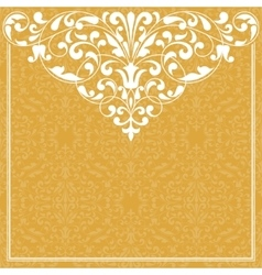 Vintage pattern for invitation or greeting card vector