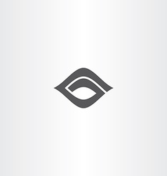 black icon letter g logo logotype g vector image vector image