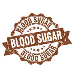Blood sugar stamp sign seal vector