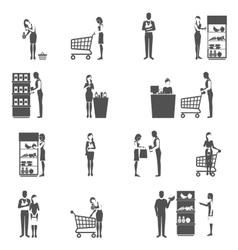 Buyer icons set vector