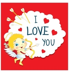 Cartoon Greeting Card Valentines Day vector image vector image