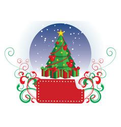 christmas tree lamel vector image