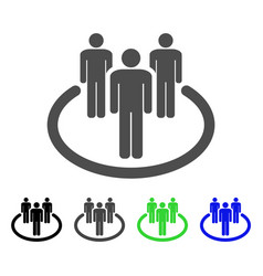 community flat icon vector image vector image