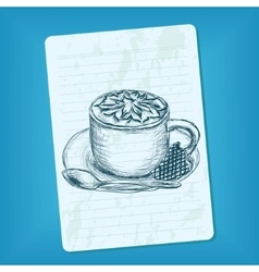 Doodle cup of coffee vector