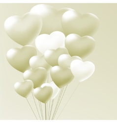 Elegant balloons heart valentines day EPS 8 vector image