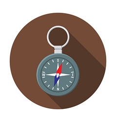 Flat design modern of compass icon camping hiking vector image